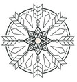 circle arrow design tattoo image vector image
