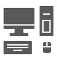 computer glyph icon technology and desktop pc vector image vector image