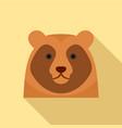cute bear head icon flat style vector image vector image