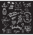 Cute hand drawn symbols of Love vector image vector image