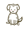 cute little dog isolated vector image