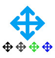 direction variants flat icon vector image vector image