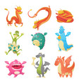 dragon cartoon cute dragonfly dino vector image vector image