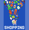 e-shop or online sales online shopping and vector image