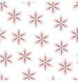 fir star red seamless vector image vector image