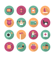 Flat icons of life after retirement vector image