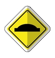 gap in track traffic signal information icon vector image vector image