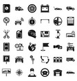 garage for car icons set simple style vector image vector image