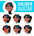 Girl avatar set kid black afro american