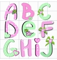 girly letter vector image vector image