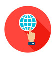 global connection circle icon vector image