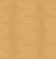 golden wavy striped seamless pattern vector image vector image