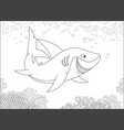 grey reef shark over a reef vector image vector image