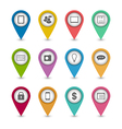 Group business pictogram icons for design your vector image vector image