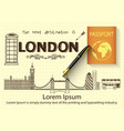 Hand drawn about London vector image