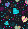 hearts cheerful pattern romantic vector image vector image