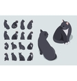 Isometric black sitting cat vector image