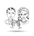 lady and gentleman design vector image