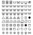 laundry symbols washing icons vector image