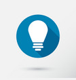 lightbulb icon in flat style vector image vector image