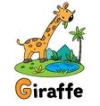 Little funny giraffe for ABC Alphabet G vector image
