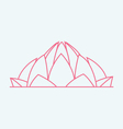 Lotus Temple In India vector image