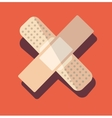 medical plaster patch finger vector image
