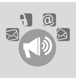 megaphone bubble speech social media vector image