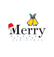 merry christmas icon in colorful vector image vector image