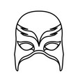 monochrome silhouette with fantasy mask vector image vector image