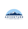 mountain and adventures logo designs vector image vector image