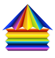 Multicolor building icon