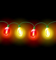 MultiColored lamp festive garland Seamless vector image
