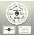Nautical wedding invitation and RSVP round card vector image vector image