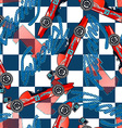 Open wheel racing seamless pattern vector image vector image