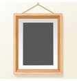 Photo Frame on Wall Image vector image vector image
