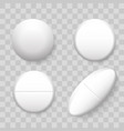 pills 3d realistic isolated icons vector image vector image