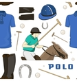Polo objects Sport uniform pattern vector image
