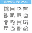 qr code and barcode icons vector image vector image