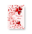 rectangular pattern with scarlet hearts vector image vector image