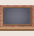 school blackboard and desk vector image