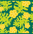 seamless tropical pattern with flowers vector image vector image