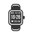 smart watch and fitness tracker band icons set vector image vector image