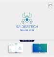 spider technology logo internet network symbol vector image vector image