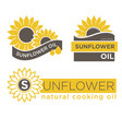 sunflower natural oil product label vector image vector image