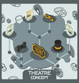 theatre color concept isometric icons vector image vector image