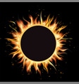 total eclipse of the sun eclipse background vector image