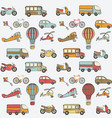 transport kids seamless pattern vector image vector image