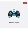 two color wireless gadget icon from technology vector image vector image