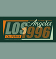 typography design los angeles for t-shirt vector image vector image